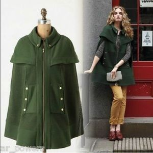 Anthropologie Madchen. Fatigue finery cape jacket